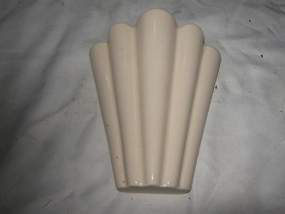 A Vintage Art Deco Style Cream Wall Vase Candlelight England by Kingston Pottery
