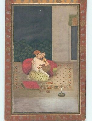 Pre-Linen foreign LOVERS ON THE HAREM'S TERRACE - IN INDIA HL7817