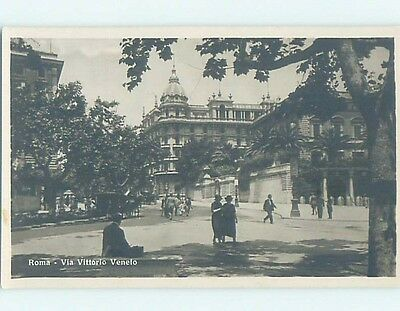 old rppc LARGE BUILDING Rome - Roma Italy HM2259