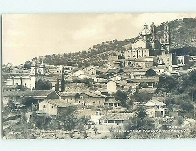 old rppc WIDE PANORAMIC VIEW OF TOWN Taxco - Guerrero Mexico HM1911