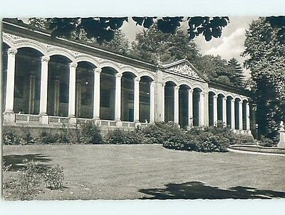 old rppc BUILDING WITH COLUMNS Baden-Baden In Baden-Wurttemberg Germany HM1799