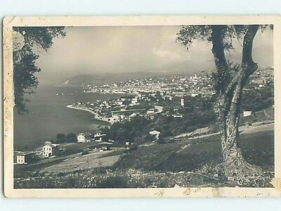 old rppc AERIAL VIEW OF TOWN Sanremo - San Remo - Western Liguria Italy HM1960