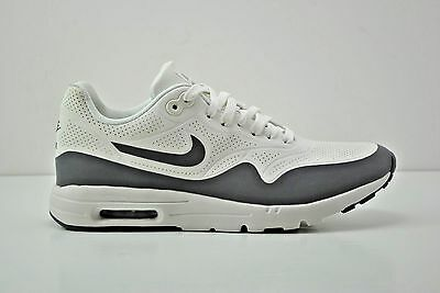 Womens Nike Air Max 1 Ultra Moire Running Shoes Size 7.5 White Grey 704995  101 931a4f2aa