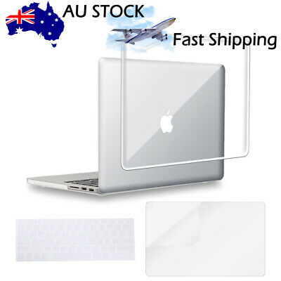 "Crystal Clear Hard Case Shell+Keyboard Cover MacBook Air Pro 13 11"" Retina 15"""