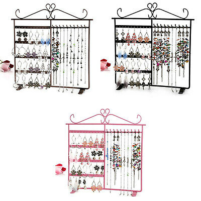 Holes Earring Necklace Holder Display Stand Organizer Jewelry Show Rack Hanger