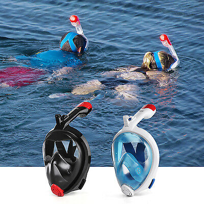 HOMPO Foldable Snorkeling Mask Full Face Snorkel Mask 180° Larger Viewing
