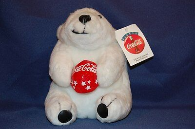"Coca-Cola Plush Collection Lovey Coke Ball in Hands 7"" Lovey Stuffed Animal Toy"