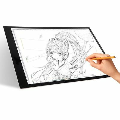 LED Tracing LightBox Board Artist  A4 Drawing Pad Table Stencil Display 2017