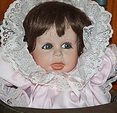Dehetre 1987 original bisque reproduction doll life-like realistic Punkin doll