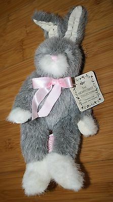 "NWT Russ Berrie 8"" Plush Bunny Sundance Easter Rabbit Heartcraft Collection 1218"