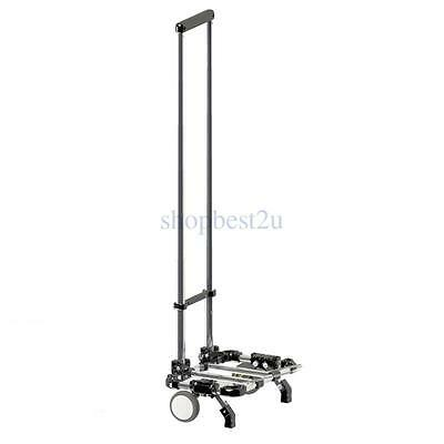 Shopping Luggage Trolley Car Hand Cart Portable Telescopic Folding Trailer Black