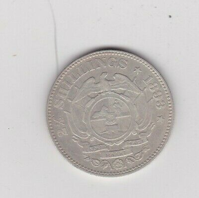 South Africa 1893 Kruger Silver Half Crown In Near Very Fine Condition