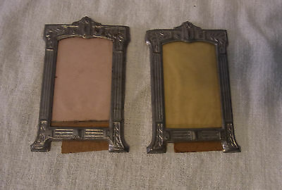 2 Antique German Picture Frame Stamped Sheet Metal 1900 #BY1