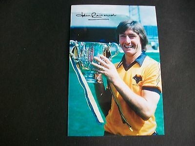 """WOLVES player  JOHN RICHARDS with League cup  1980   6""""x4""""  REPRINT"""
