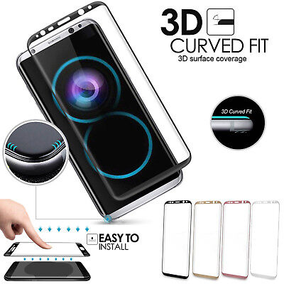 Fully Curved 3D Gorilla Tempered Glass Screen Protector for Samsung Galaxy S8 S7
