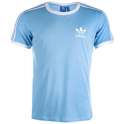Womens adidas Originals Womens 3-Stripes T-Shirt in Blue - 14 From Get The Label