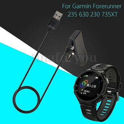 USB Charging Clip Charger Cable 1M for Garmin Forerunner 230 235 630 735XT Watch