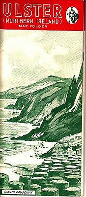 "Ulster Northern Ireland Map Folder ""For Your Holiday"" Brochure 1950s"