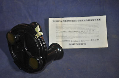 Ca 1940 Sawyers Viewmaster Model A With ORIGINAL Box, Guarantee & Instructions