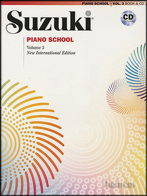 Suzuki Piano School Volume 3 Book/CD Learn How to Play Music Method