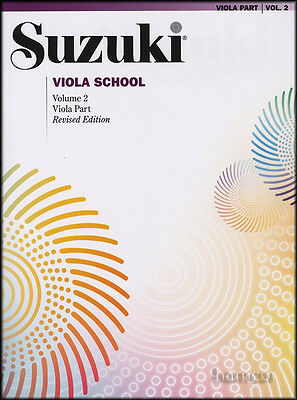 Suzuki Viola School Volume 2 Viola Part Revised Edition Music Book Method