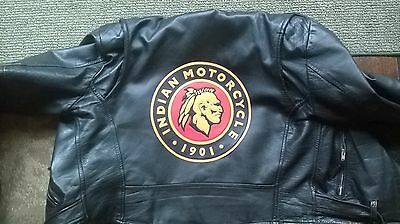 """Indian motorcycle 10"""" synthetic leather back patch. NICE!! NEW"""
