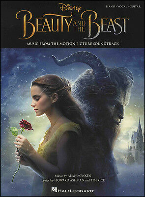 Beauty and the Beast Piano Vocal Guitar Sheet Music Book Movie Film Soundtrack