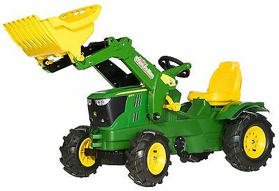 John Deere Rolly 6210R + Loader Digger + Pneumatic Tyres Kids Pedal Tractor