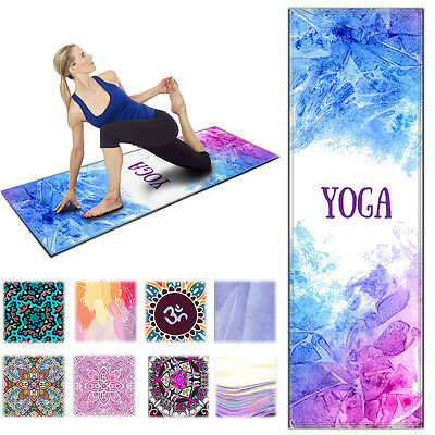 Colorful Yoga Mat Exercise Fitness Pilates Camping Gym Workout Meditation Pad