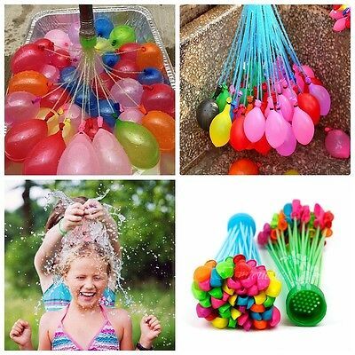111pcs 3 Bunch Water Bomb Magic Water Balloons Birthday Party Summer Outdoor