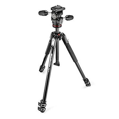 Manfrotto 190X Aluminum 3 Section Tripod With 804 Mk II 3-WAY Quick Release Mint