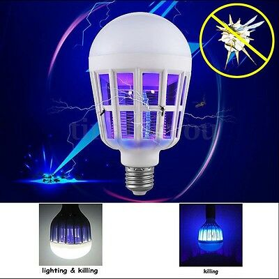 220V LED Insect Zapper Light Bulb E27 15W Anti-Mosquito Fly Insects Moths Killer
