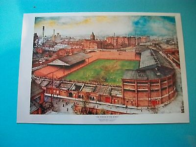 "MANCHESTER UNITED OLD TRAFFORD  painting 1930s ? 6""x4"" Photo  REPRINT"