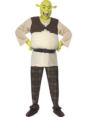 Shrek Ogre Deluxe Licenced Film Movie Cartoon Costume with Latex Mask