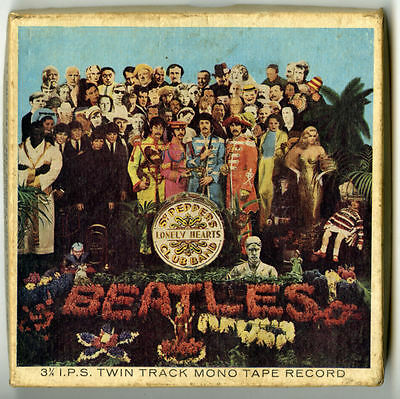 The Beatles 1967 Sgt. Pepper Reel To Reel Tape TA-PMC 7027 Mono