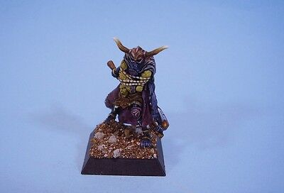Confrontation painted miniature Drune Warrior