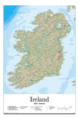 Ireland Map Poster New - Maxi Size 36 x 24 Inch