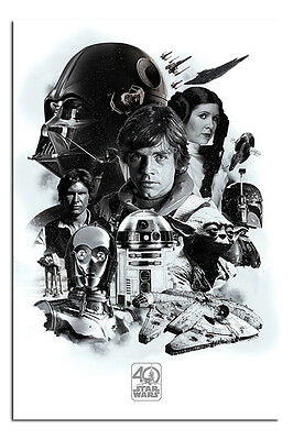 Star Wars 40th Anniversary Montage Poster New - Maxi Size 36 x 24 Inch