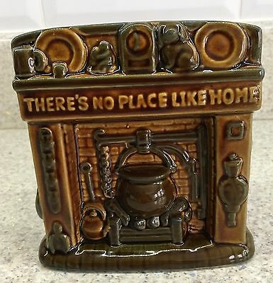 SZEILER MONEY BOX THERE'S NO PLACE LIKE HOME 1060's TREACLE GLAZED PERFECT