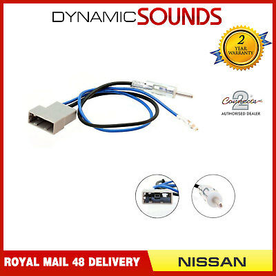 Connects 2 CT27AA75 DIN Aerial Adaptor Antenna Mast For Nissan Note 2007 On