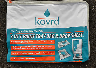 Kovrd 3 in 1 Paint Tray Bag & Drop Sheet Storage Tool Carrying Bag