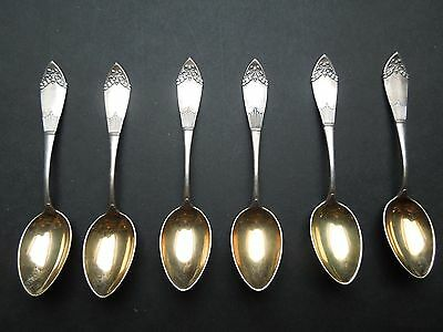 N715  Antique  Silver  Coffee/Thea  Spoons Heavy  76  Gr 800  Silver