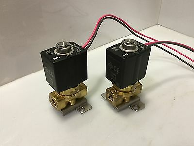 Lot of 2- SMC VX2112-01T-5G1 2-Port Direct Solenoid Valve 24VDC NO Air/Water