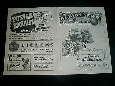 WEST BROMWICH ALBION v MILLWALL November 3rd 1945/46