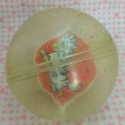 Vintage Baby Toy Plastic Spinning Ball Zebra 1980's Style Roll A Round Spinner