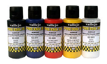 AV Premium Airbrush Paint : Opaque 5 Colour Set
