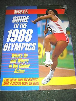 News Of The World Guide To The 1988 Olympics 64 Pages