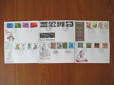 1976 Collection Of 6 Of The 7 First Day Covers All With Special Handstamps