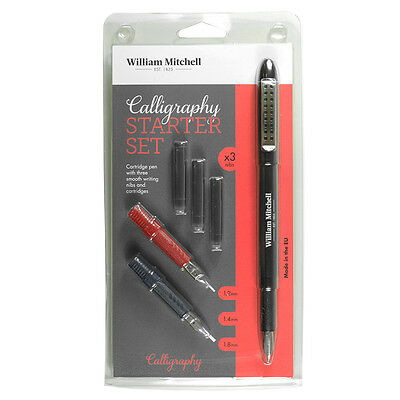 William Mitchell Calligraphy Calligraphy Starter Set Cartridge Pen with Ink