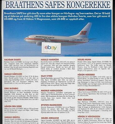 Braathens Safe Norway Boeing 737-500  Aircraft Names & History 22 Jet Names